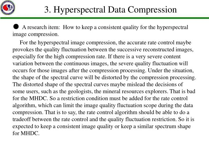 3. Hyperspectral Data Compression