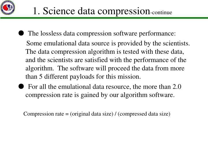 1. Science data compression