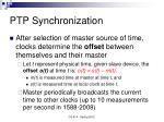 ptp synchronization