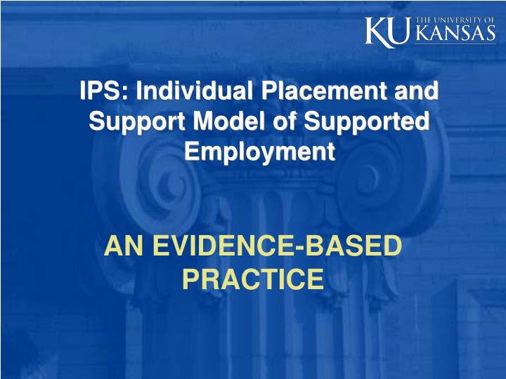 ips individual placement and support model of supported employment n.
