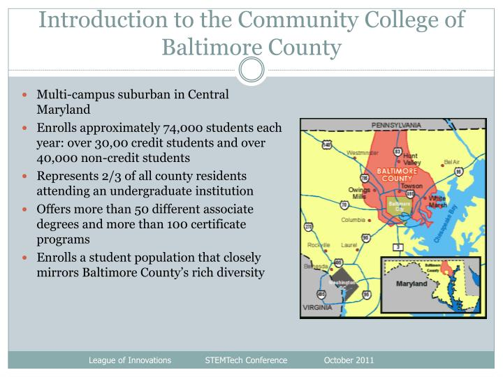 Introduction to the Community College of Baltimore County