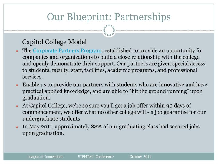 Our Blueprint: Partnerships
