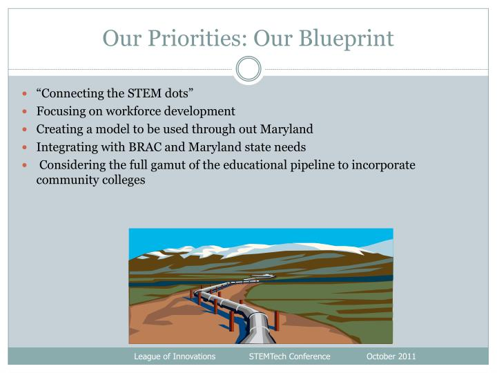 Our Priorities: Our Blueprint