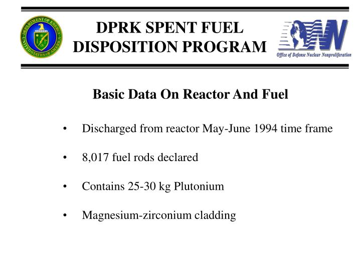 Basic Data On Reactor And Fuel