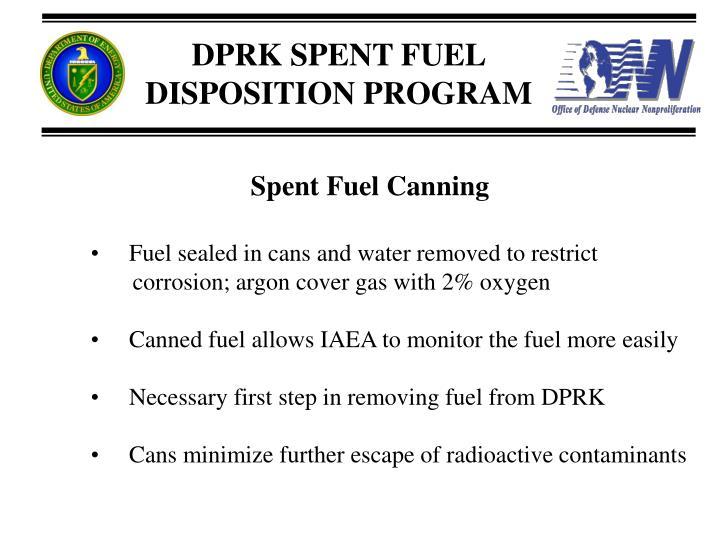 Spent Fuel Canning