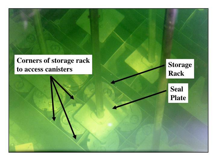 Corners of storage rack