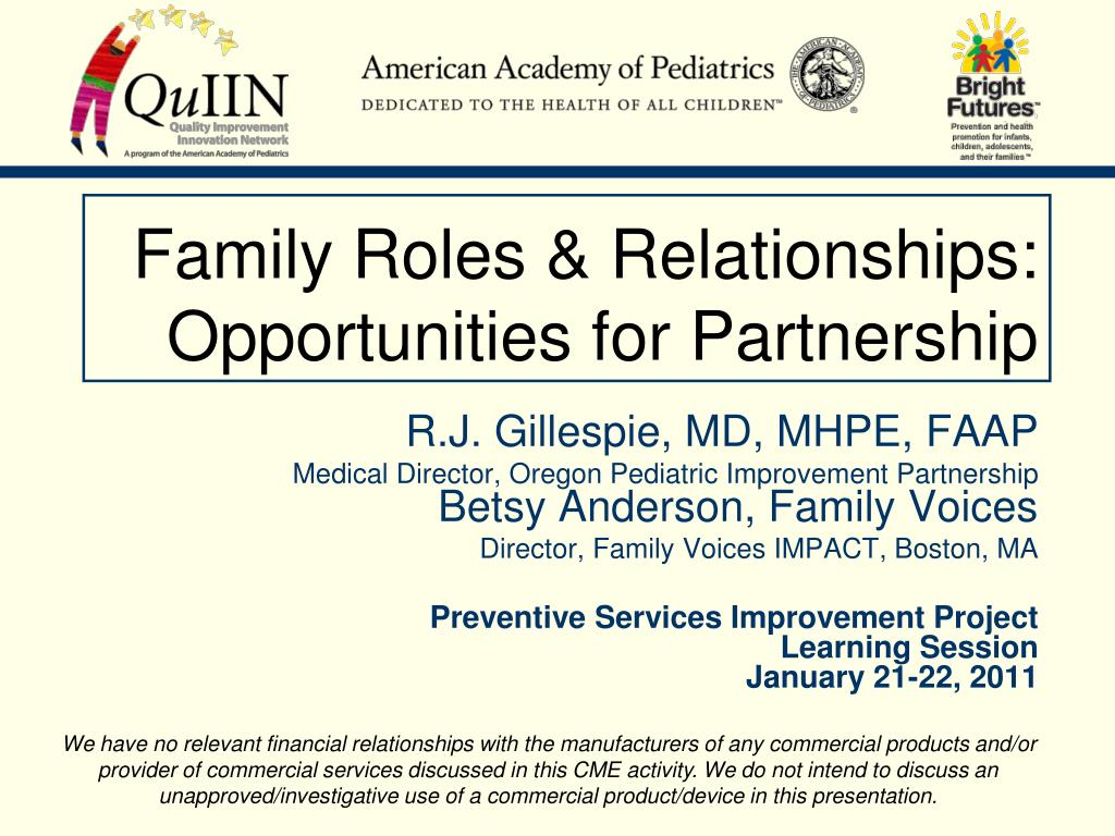 roles and relationships within the family