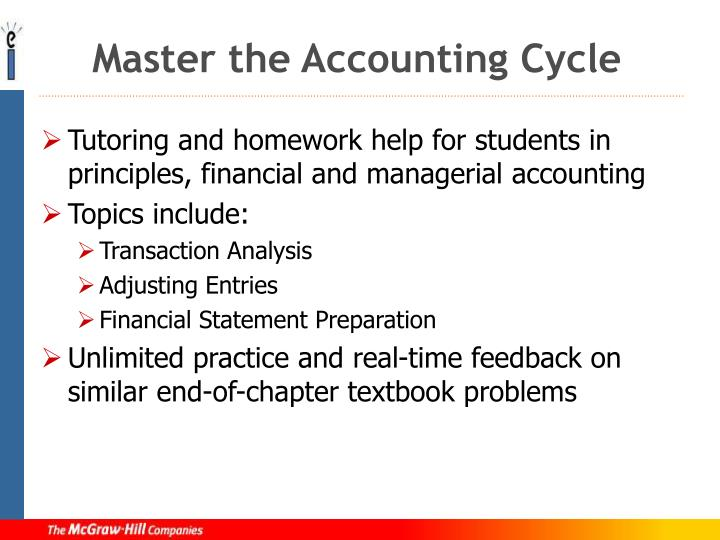 Master the accounting cycle