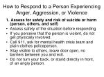 how to respond to a person experiencing anger aggression or violence1