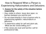 how to respond when a person is experiencing hallucinations and delusions2