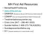 mh first aid resources