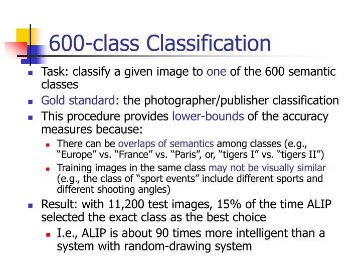 600-class Classification