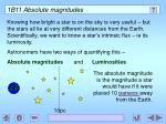 1b11 absolute magnitudes
