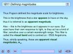 1b11 defining magnitudes