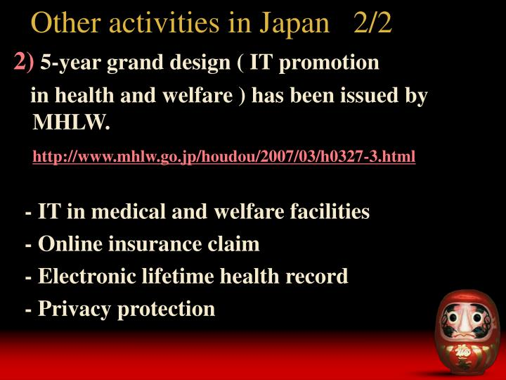 Other activities in Japan   2/2