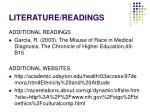 literature readings