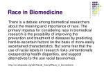 race in biomedicine