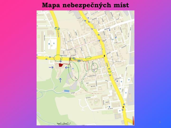 Mapa nebezpečných míst