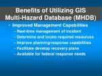 benefits of utilizing gis multi hazard database mhdb