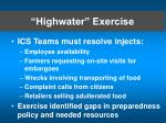 highwater exercise