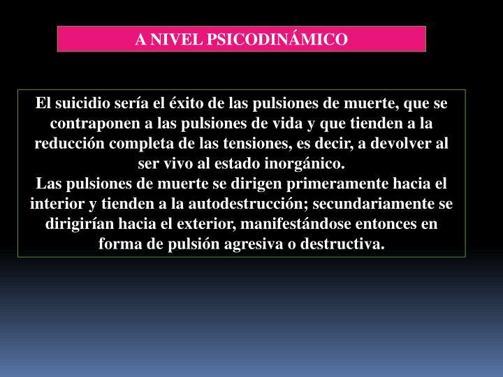 A NIVEL PSICODINÁMICO