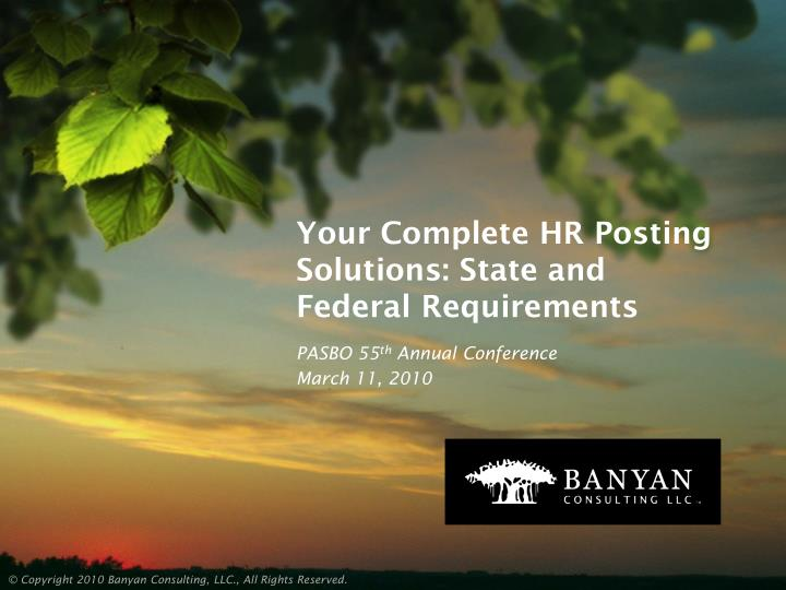 your complete hr posting solutions state and federal requirements n.