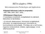 ikta alap tva 1996 infocommunication technologies and applications