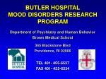 butler hospital mood disorders research program