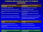 evidence implicating ne and 5 ht in mood disorders