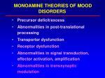 monoamine theories of mood disorders