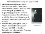 herbert spencer jennings and jacques loeb