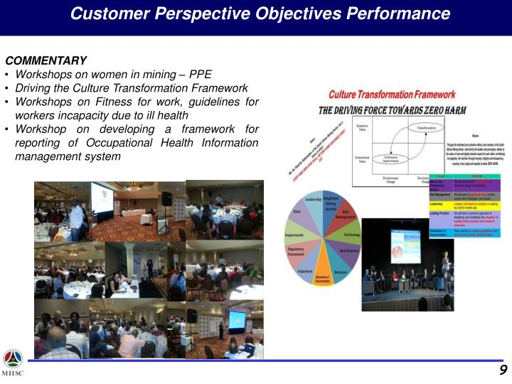 Customer Perspective Objectives Performance