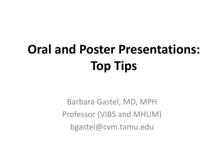 oral and poster presentations top tips n.