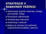 strategije v nabavnem tr enju
