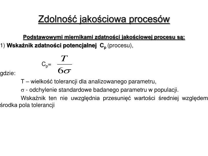 Zdolność jakościowa procesów