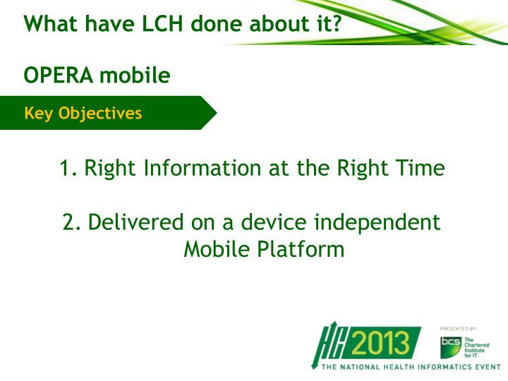 What have LCH done about it?