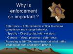 why is enforcement so important1