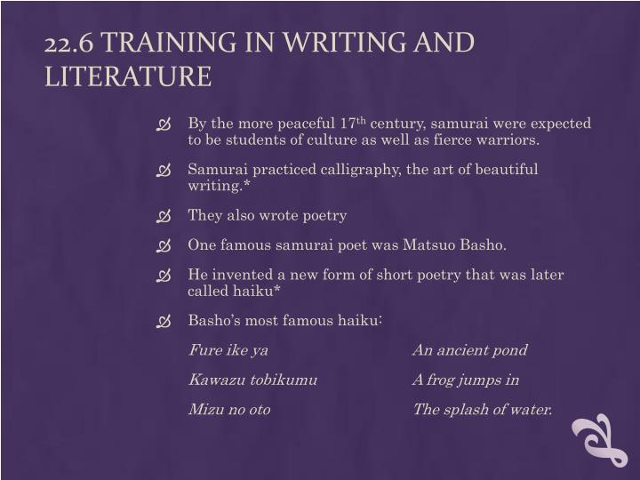 22.6 Training in Writing and Literature