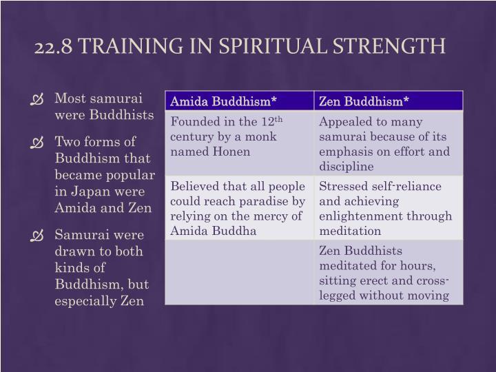 22.8 Training in Spiritual Strength
