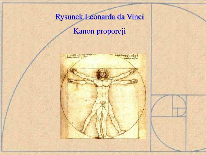 Rysunek Leonarda da Vinci