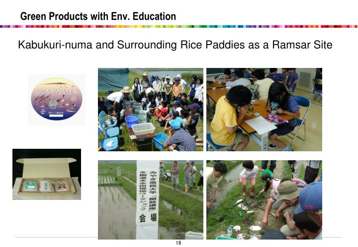 Green Products with Env. Education