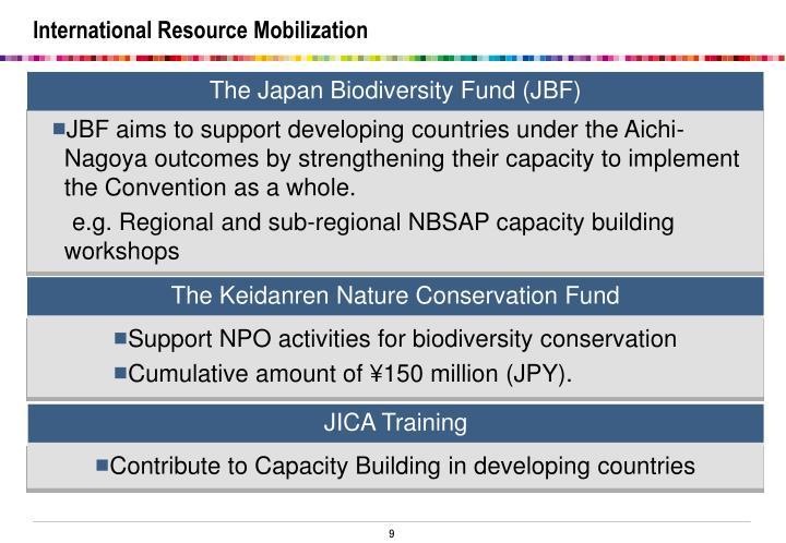 International Resource Mobilization