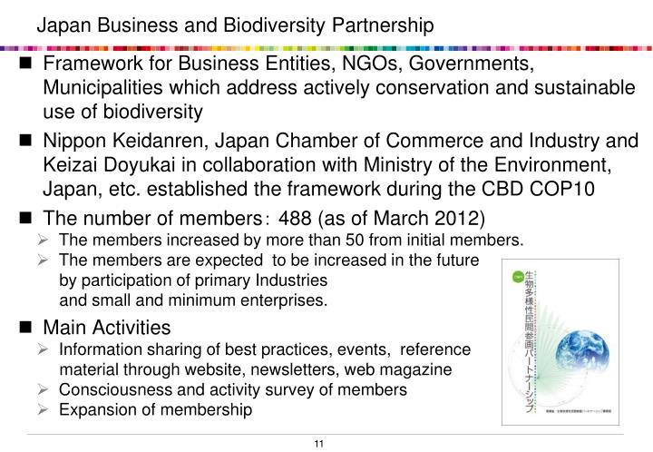 Japan Business and Biodiversity Partnership