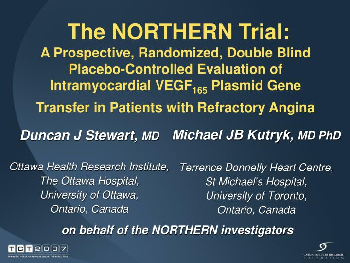 PPT - Michael JB Kutryk, MD PhD Terrence Donnelly Heart Centre, St