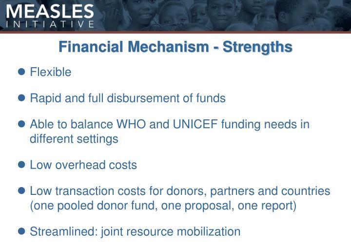 Financial Mechanism - Strengths