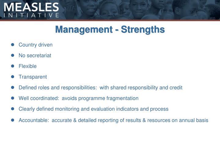 Management - Strengths