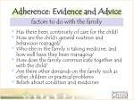 adherence evidence and advice3