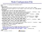 node configuration file