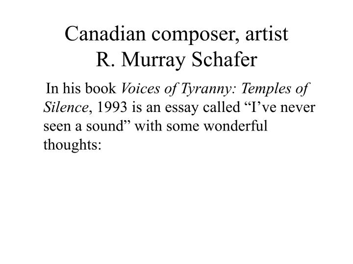 Canadian composer, artist
