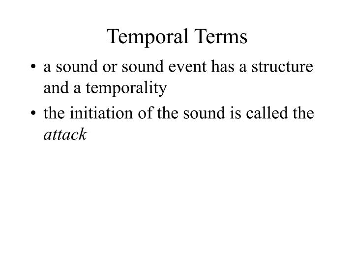 Temporal Terms
